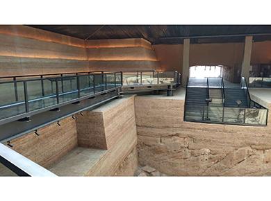 戰國中山王國陵遺址 土壤固化劑施工